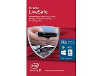 mcafee livesafe unused internet security