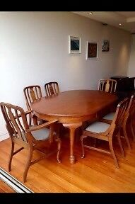 Antique Table & Chairs Casula Liverpool Area Preview