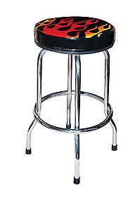 ATD TOOLS Shop Stool with Flame Design 81056