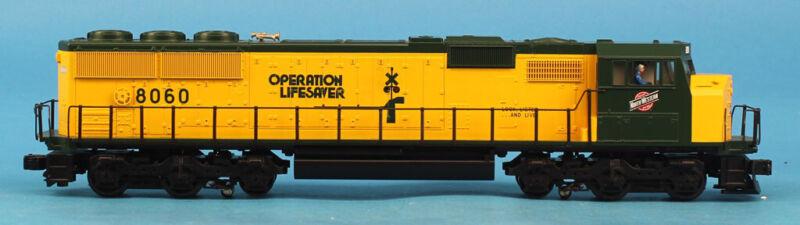 MTH O Gauge Chicago Northwestern #8060 3-Rail EMD SD60M Diesel Engine#MT-2047LPU