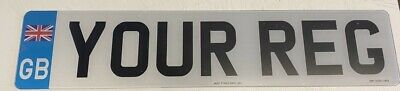 single GB UNION JACK front Road Legal/show 2D numbER plates printed free post