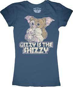 T-Shirt-Tee-GREMLINS-NEW-Gizmo-Gizzy-Is-The-Shizzy-Juniors-Licensed-grjs1001