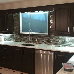 Kitchen Cabinet Refinishing – No Re-facing required