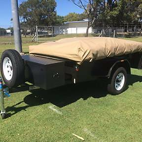 Oztrail Camper 8 Trailer tent with gazebo, kitchen & McHitch Cleveland Redland Area Preview