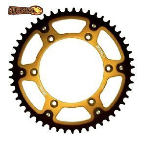Rear motorcycle sprocket for KTM SXF 250 year 2006 to 2015 gold / black 52 teeth