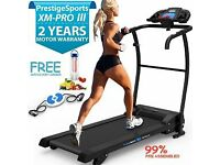 Foldaway Treadmill, Prestige Sports XM-Pro Dynamic, EXCELLENT CONDITION with Twist Disc and bands