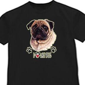 I love my Pug shirt Pug dog breed T-shirt Breed Black Pug T-shirt