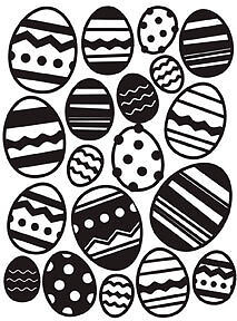 Darice A2 EASTER EGG background embossing folder - $8