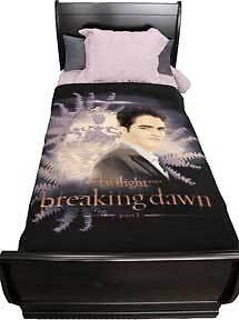 TWILIGHT-Breaking-Dawn-Edward-with-Crest-Fleece-Blanket-NECA-NEW