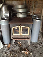 Heritage Wood Stove and pipe.