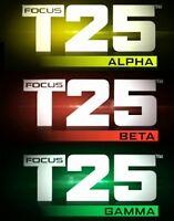 Focus T25 : Alpha Beta et Gamma +Guides et Calendriers