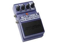 digitech multi chorus effects pedal
