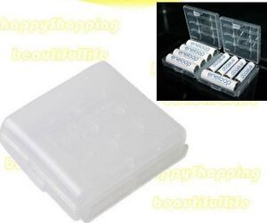 2pcs Hard Plastic Case Holder Storage Box for AA AAA Battery