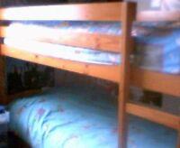 Lit deux etages en bois