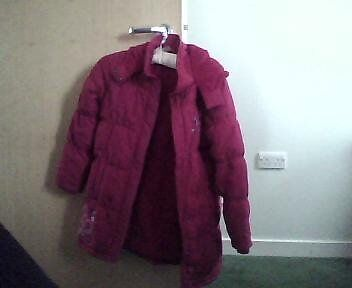 Red debenhams girls warm winter coat 9/10 years
