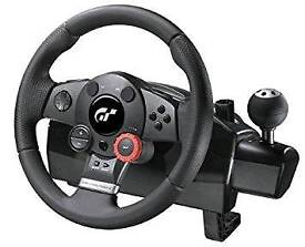 Logitech force feedback racing wheel and pedals