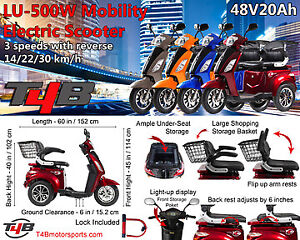 #!Mobility Electric Recreational Outdoors Scooter 48V20AH,