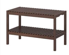 Molger ikea shelving unit bench wood