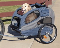 HoundAbout 2, dog stroller with bicycle conversion.