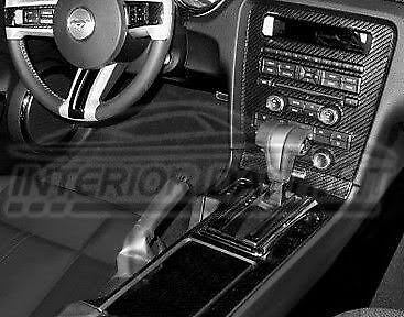 Ford mustang gt 500 interior real carbon fiber dash trim kit set 2010 2011 2012 cad for Carbon fiber mustang interior parts