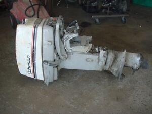 moteur johnson 20 hp et pieces diverses