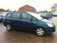 7 seater vauxhall zafira for sale