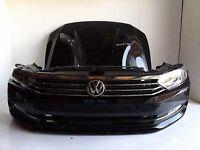 Car part: single front end VW Passat B8 3G Bumper bonnet fender LED LHD headlights 2015 - 2017