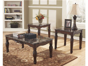 Ashley Brand New 3 pc Coffee & End Tables Delivery is Avail