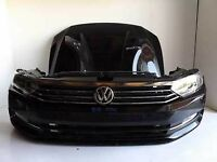 Car part: single front end VW Passat B8 3G Bumper bonnet fender LED LHD headlights 2015 - 2017