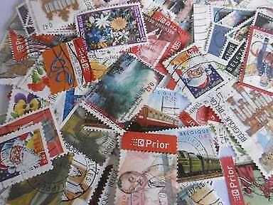 Lot 10. 200 timbres oblitérés différents de Belgique (n°2887-3696)