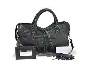 Authentic Balenciaga City Hand Bag - Black / Used