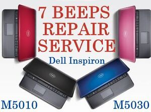 7 BEEPS Dell Inspiron M5010 M5030 laptop Motherboard PROFESSIONAL Repair Service