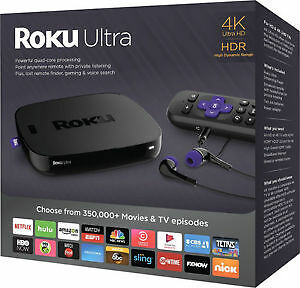 ROKU ULTRA 4K HDR - Streaming Media Player - Brand New Sealed