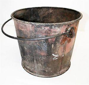 Vintage bucket ebay for Old metal buckets