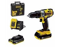 Stanley FATMAX FMC626C2K Hammer Drill 18v 2x Batteries, Charger & Case FREE SHIPPING UK WIDE