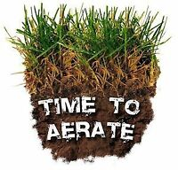 SAVE $$  on Lawn Aeration   Call this WEEK...519-872-1313