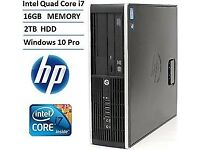 HP Compaq 8200 Elite SFF PC Quad i7 2600 3.40GHz 16GB Ram 2000GB HDD RW 2ND GEN