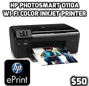 HP Photosmart e-All-in-one Wi-Fi Color Inkjet Printer d110a