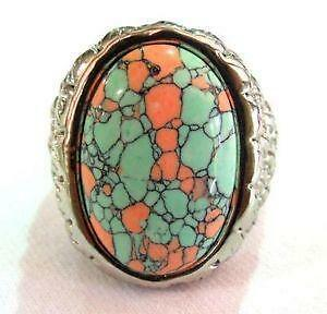060c3658f823d0 Mens Large Turquoise Rings