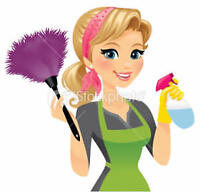 Want it done right? Cleaning lady for hire.