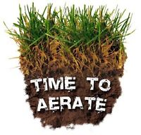 Boost your lawn - Core aeration service