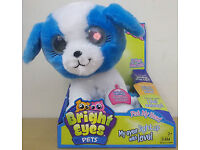 Bright Eyes Pets Twinkle Puppy Dog Interactive 11 Plush Eyes Light Up Sounds