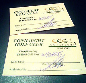 Two Passes to Connaught Golf course with Cart