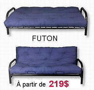 Des futons (base et matelas) en solde!!!!   grand liquidation