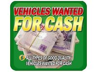 Wanted Cash for cars scrap My car Sell your car
