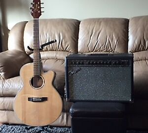 Takamine Accoustic Electric Guitar and Traynor Amp