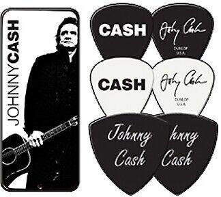 Johnny Cash American 6 Pick Set in Tin