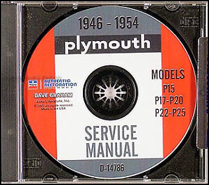 Plymouth-CD-Shop-Manual-1946-1947-1948-1949-1950-1951-1952-1953-1954-Service