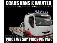 Scrap cars vans mot failures non runners wanted cash paid collection within the hour