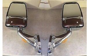 Velvac RV Motorhome Chrome Mirror Set - Turn Signal W/ Wire Kit & Switch 713824